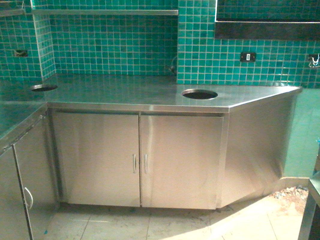 Moveis em aço inox para cozinha industrial