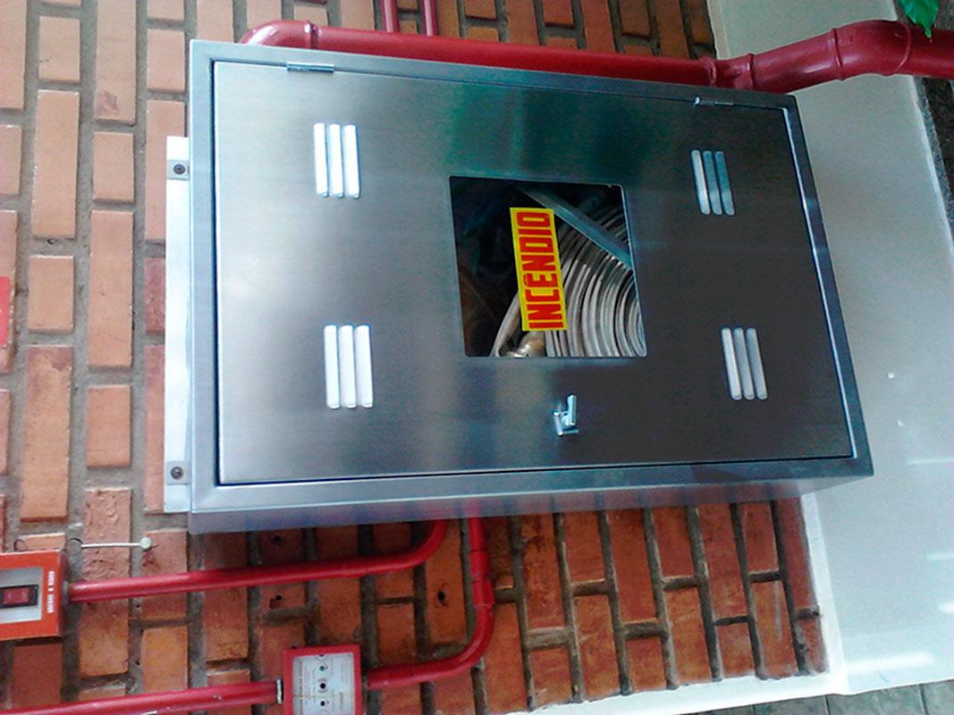 Caixa de hidrante em aço inox